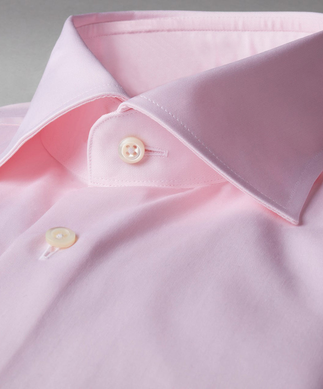 Pink Fitted Body Dress Shirt