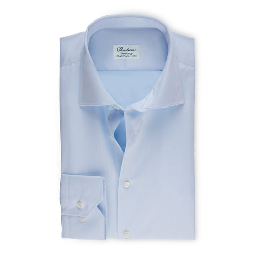 Sky Blue Fitted Body Regular Cuff Shirt