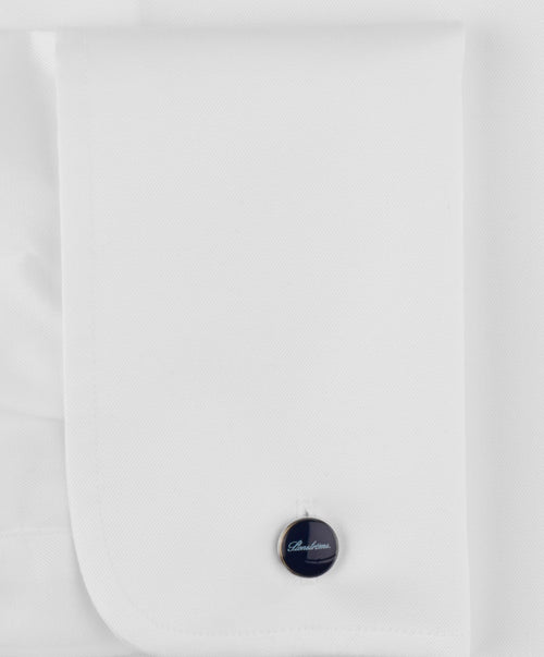 White Fitted Body French Cuff Dress Shirt