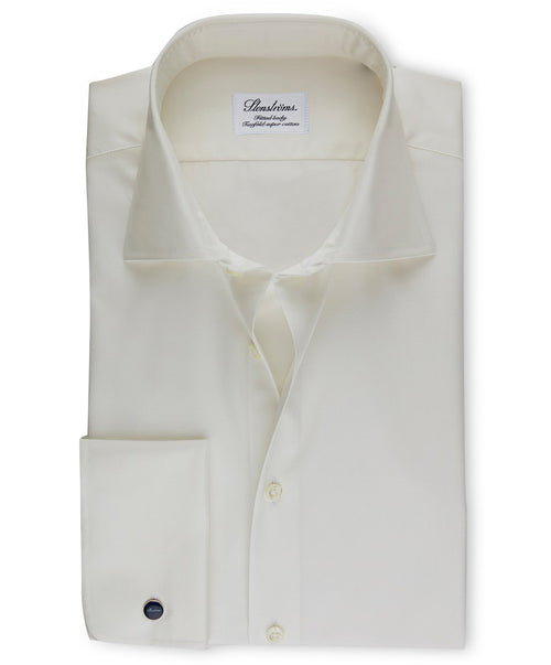 Off-White Fitted Body French Cuff Dress Shirt