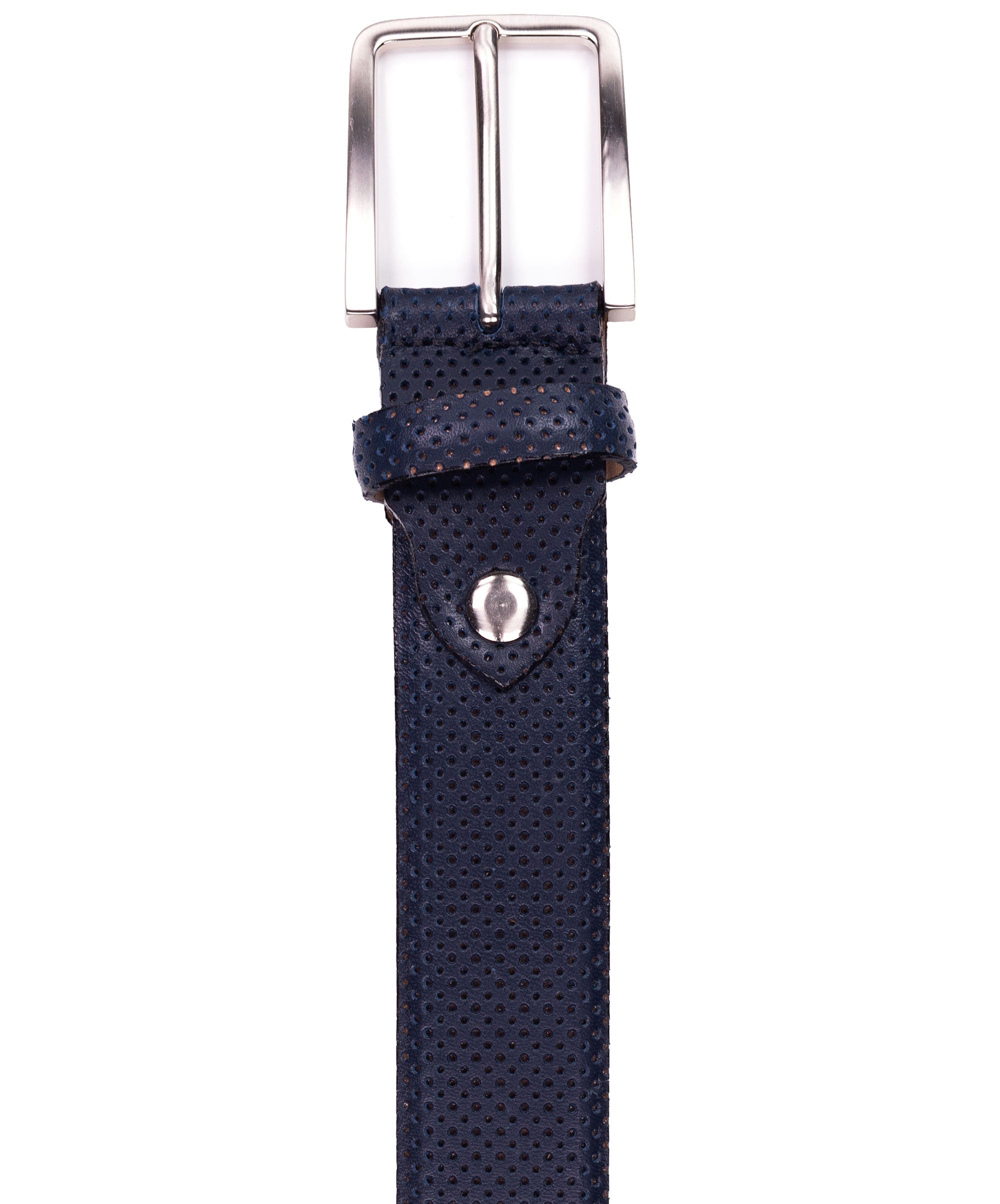 Navy Perforated Belt
