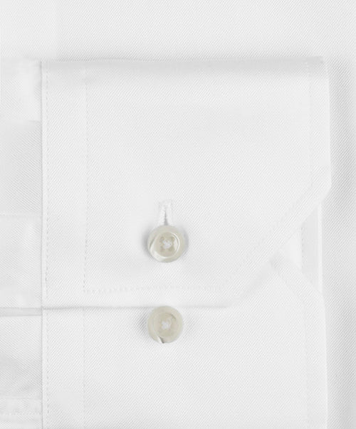 White Slimline Regular Cuff Dress Shirt