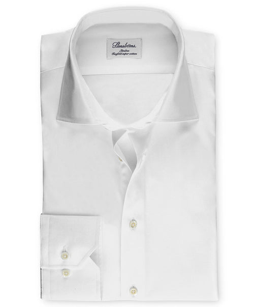 White Extra Long Sleeves Slimline Regular Cuff Dress Shirt