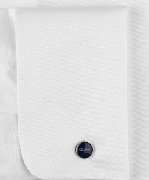 White Slimline French Cuff Dress Shirt