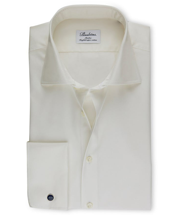 Off-White Slimline French Cuff Dress Shirt