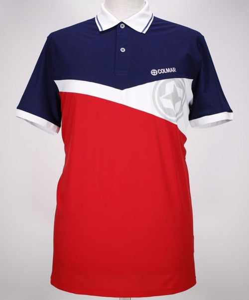 Navy/Red/White Color Block Polo