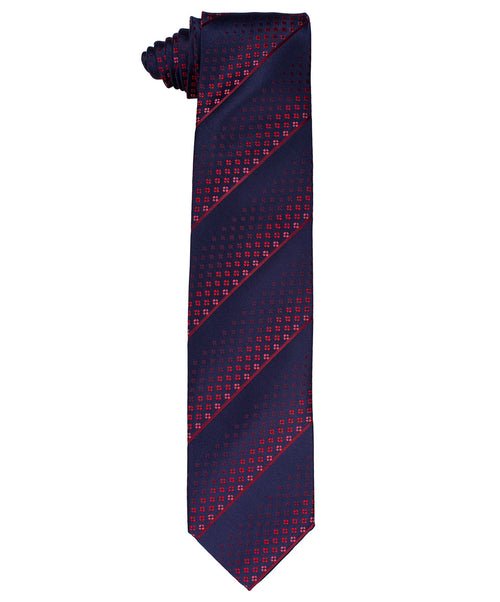 8.0cm Navy/Cobalt/Purple/Mauve Diamond & Stripe Tie