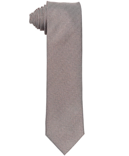 Oak/Silver Small Woven Patterned Tie