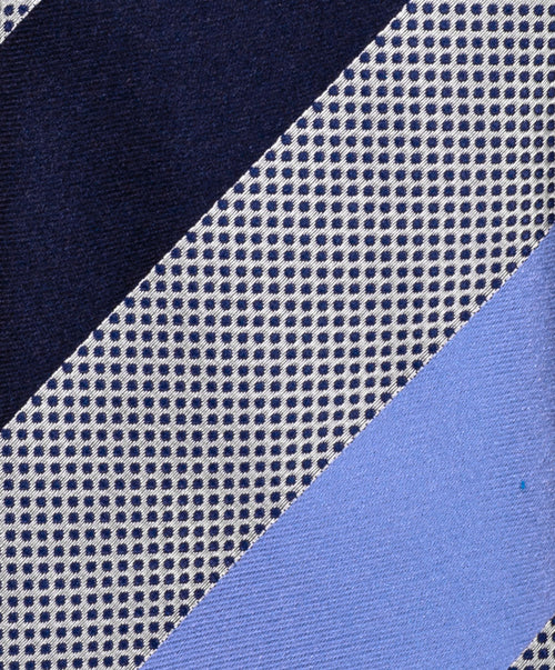Navy/Blue Wide Stripe Tie