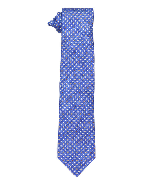 Blue/Tabacco Small Circle Pattern Tie