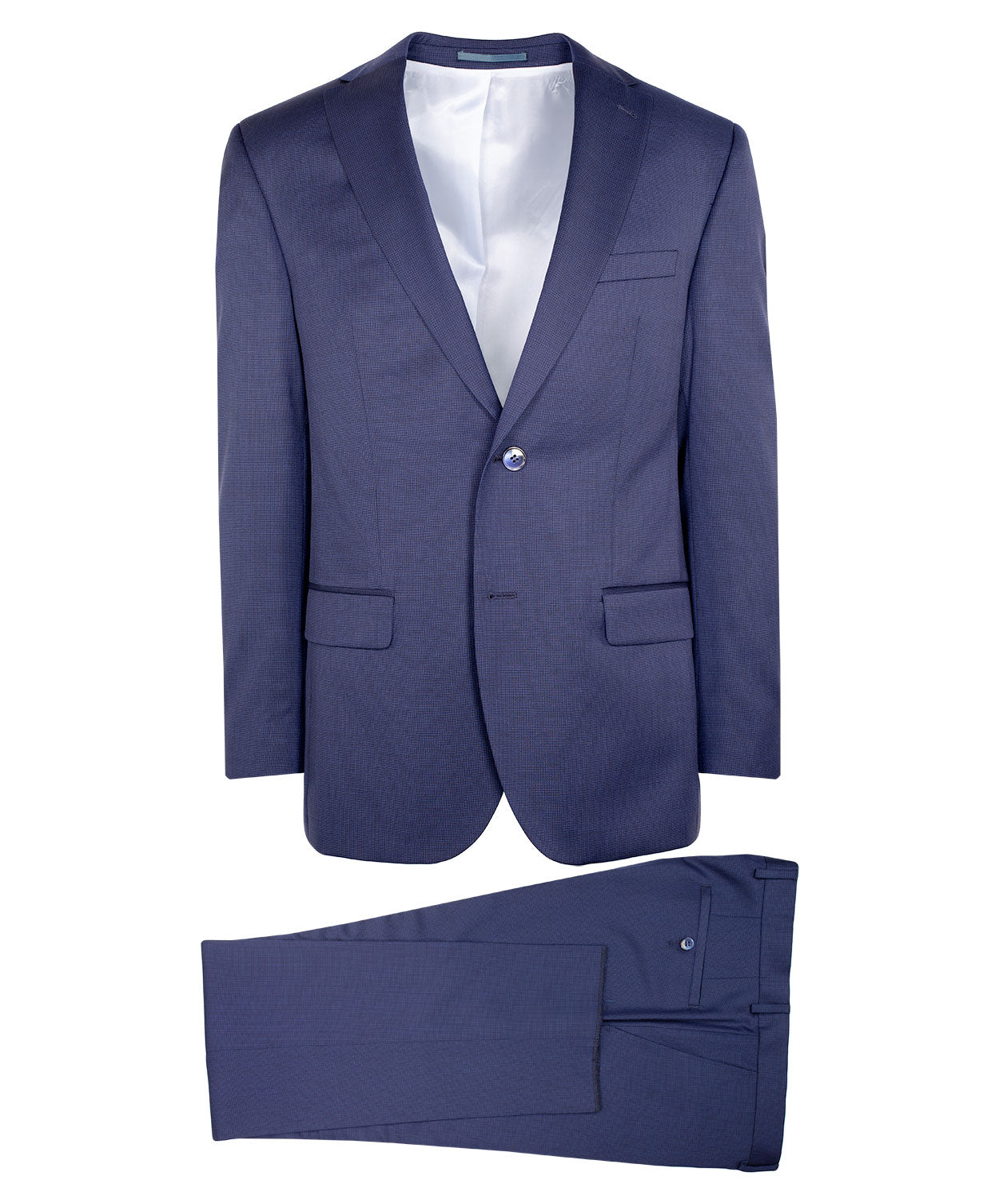 Navy Tonal Cross-Hatch Suit