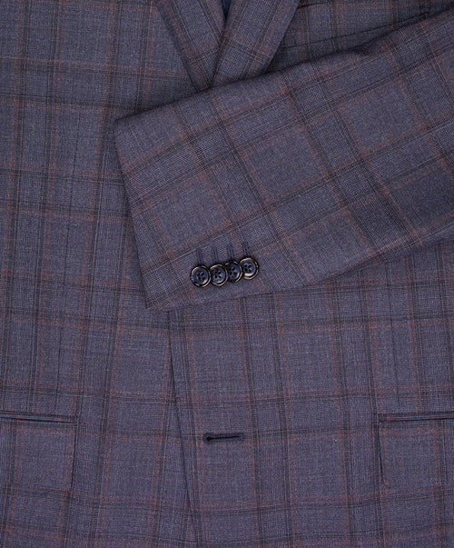 Academy Heather Blue/Rose Blended Check Suit