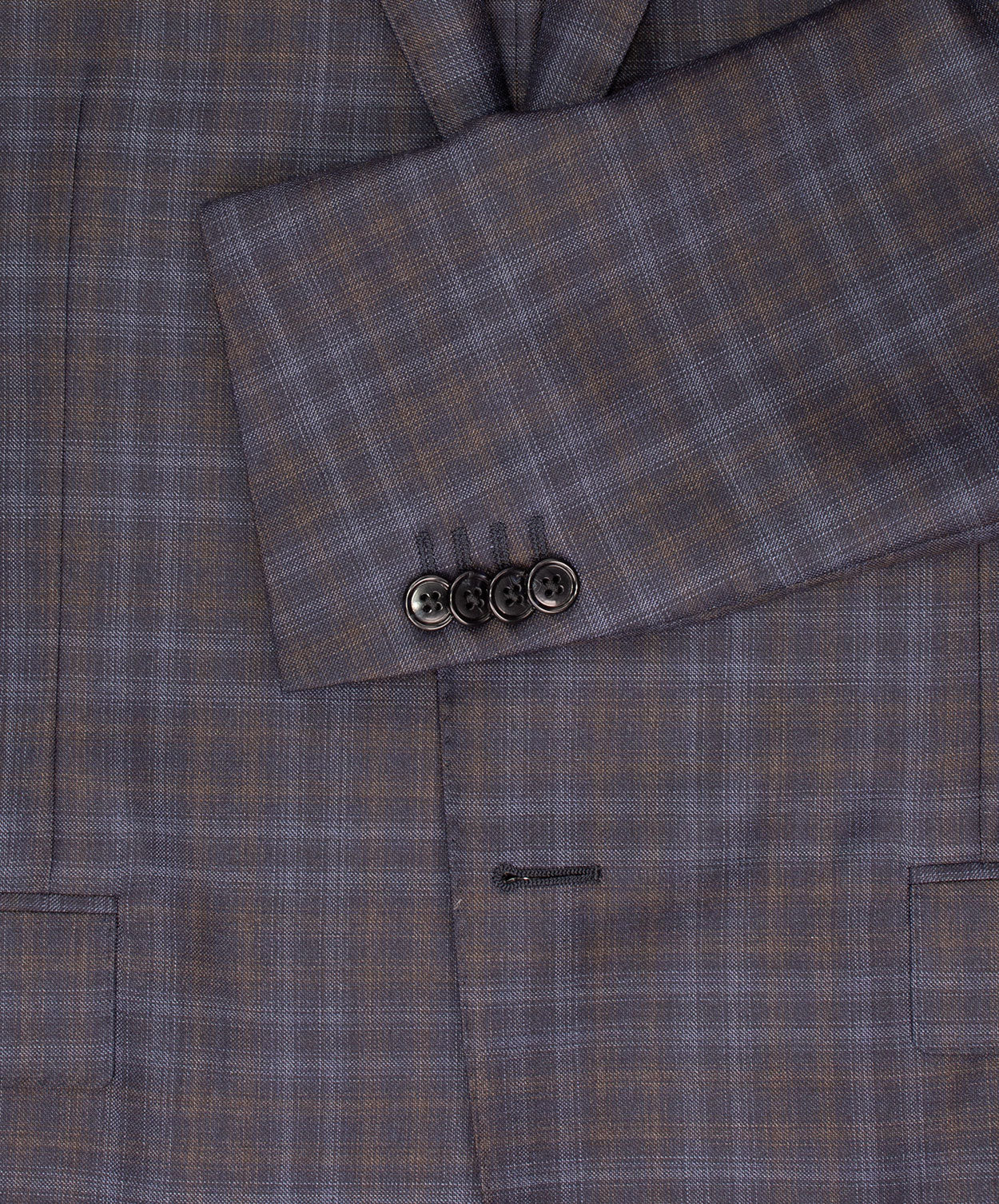 Academy Navy/Blue/Cognac Blended Check Jacket