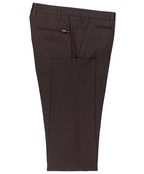 Academy Chocolate Sophisticated Gaberdine Twill Dress Pant