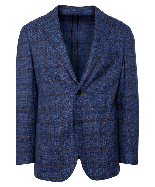 Navy/Merlot Thick Window Pane Jacket