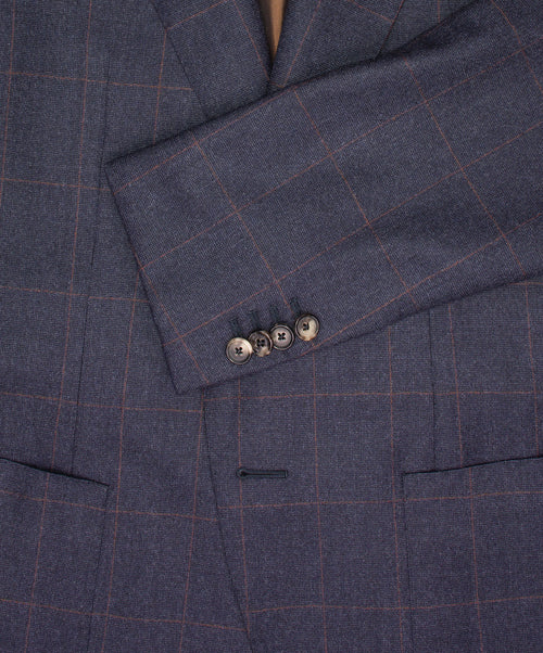 Navy/Wine Light Window Pane Suit