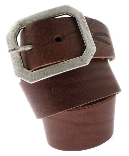 Chessnut Wide Vintage Brushed Metal Buckle Belt