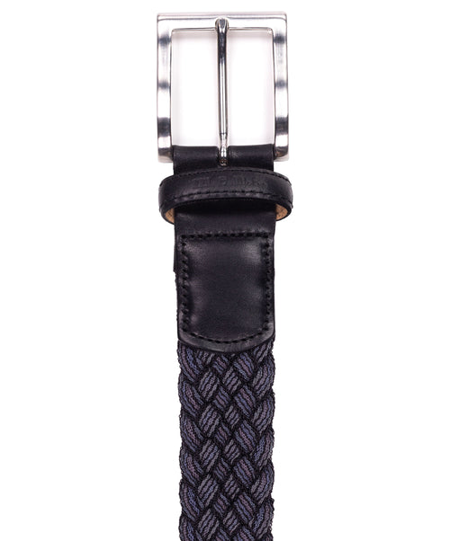 Basalt Slate/Black Bi-Color Braided Belt Belt