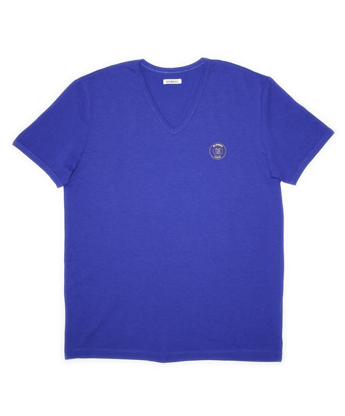 Royal Blue Sophisticated V-Neck T-Shirt