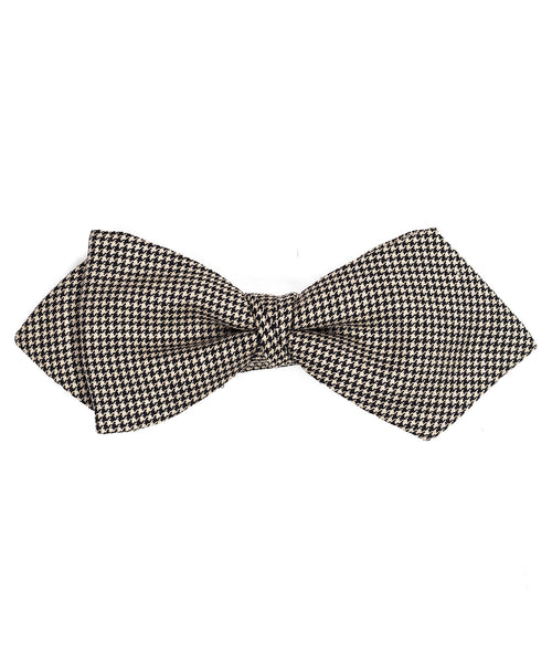 Black/Cream Houndstooth Bowtie