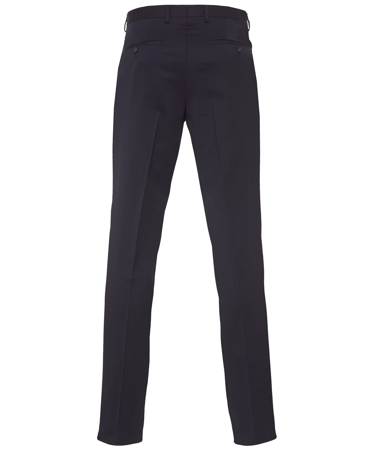 Buck Navy Solid S130's Fine Serge Dress Pant