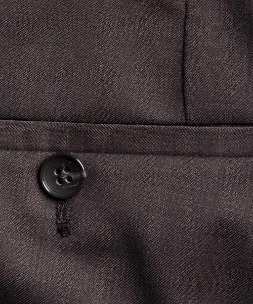 Buck Charcoal Melange S130's Fine Serge Dress Pant