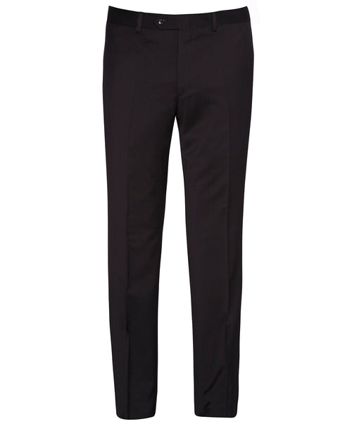 Buck Black Solid S130's Fine Serge Dress Pant