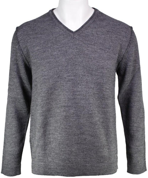 Dark Aluminium V-Neck Sweater