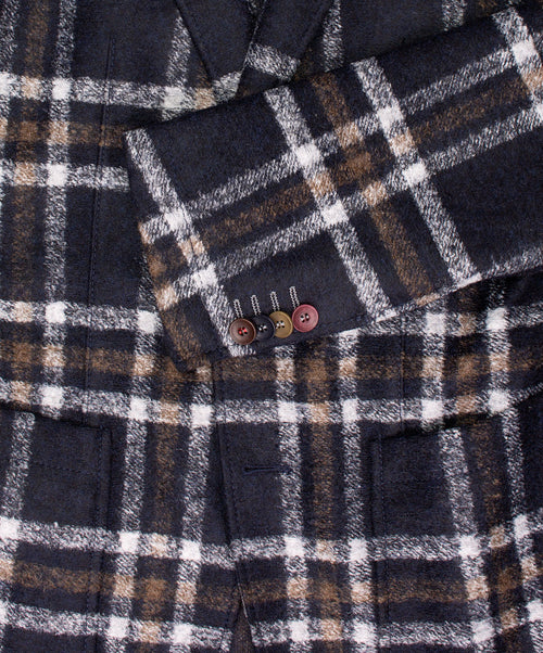 Carter Black/Ivory/Khaki Bold Milled Check Sport Jacket