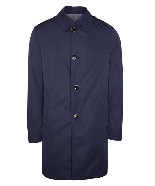 Carl Navy Rain Coat