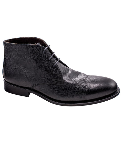 Cardiff Black Pebbled Demi Boot