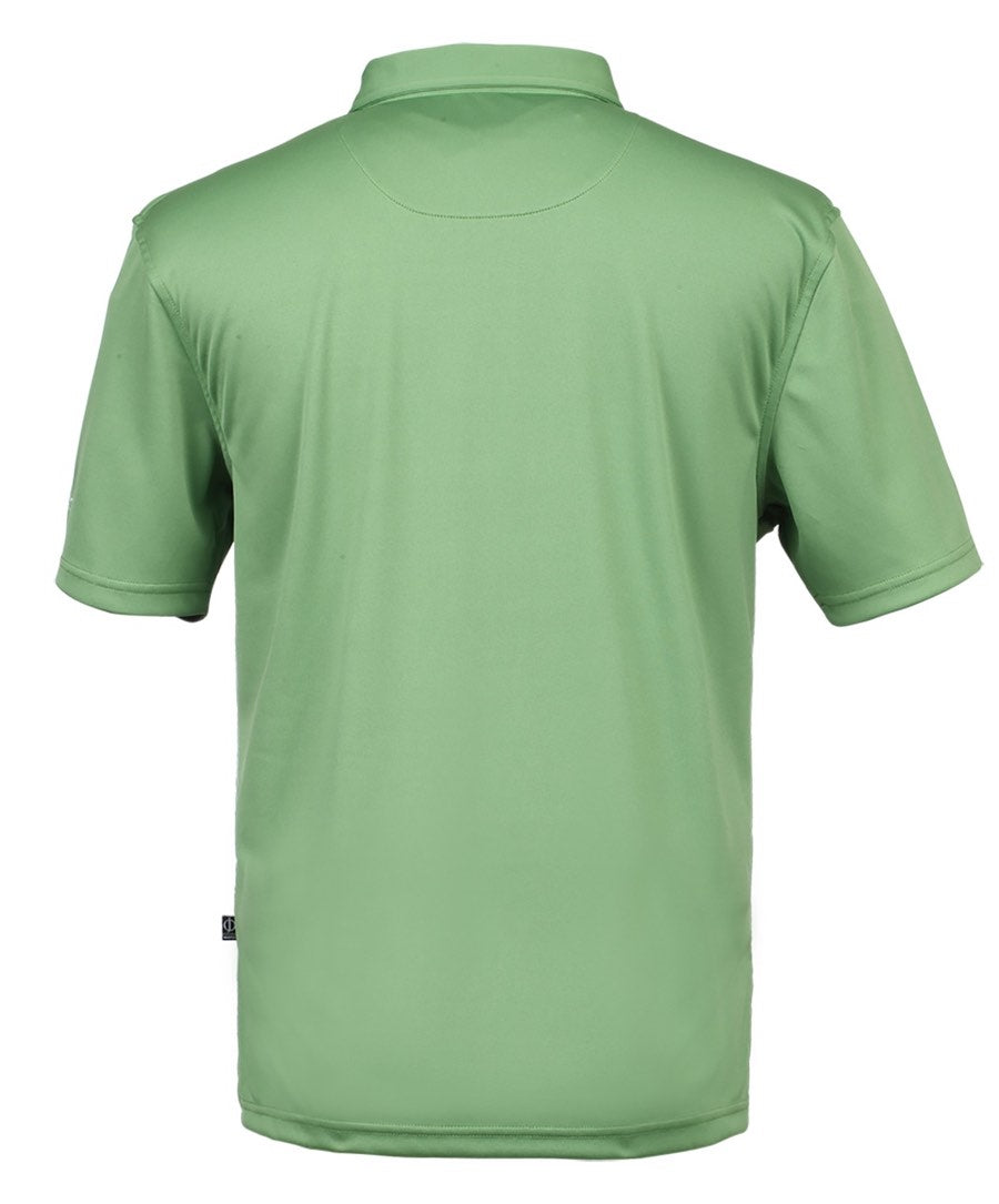 "Collin Tour Evergreen Solid w ""Oscar Jacobson"" on Chest Polo Shirt"