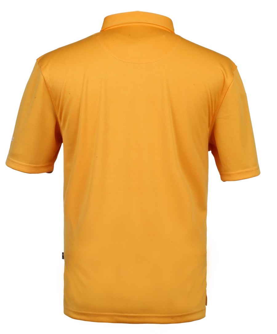 "Collin Tour Tangerine Solid w ""Oscar Jacobson"" on Chest Polo Shirt"