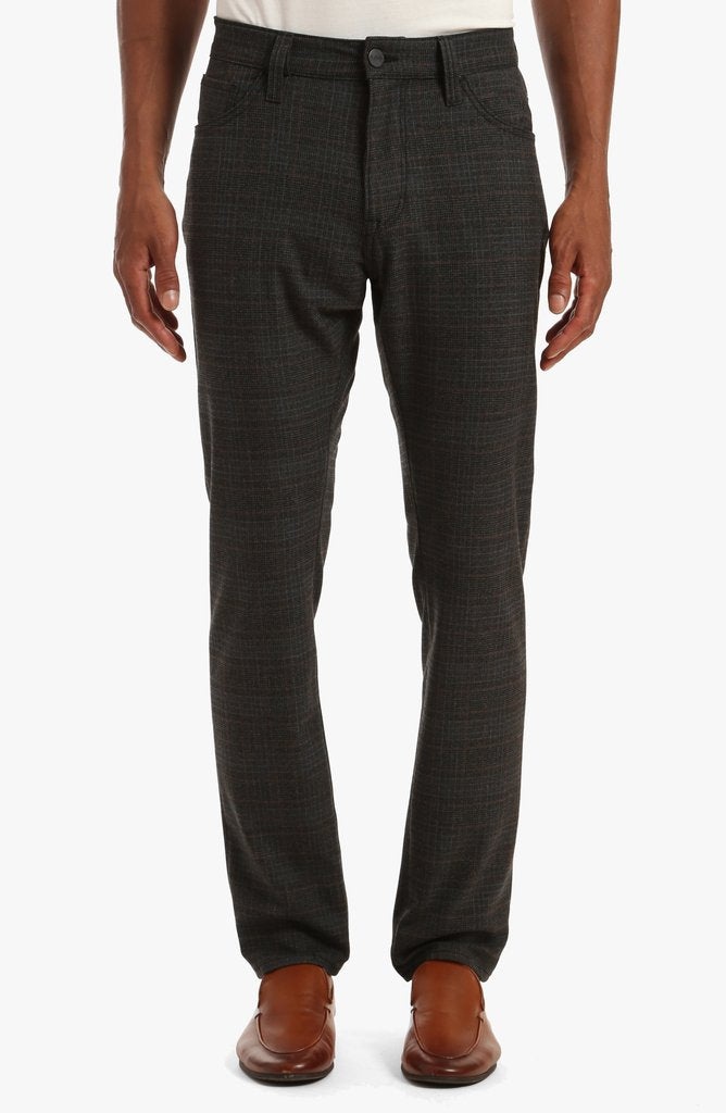 001014-32657 Smoke Fancy Check  5 Pocket Leisure Pant