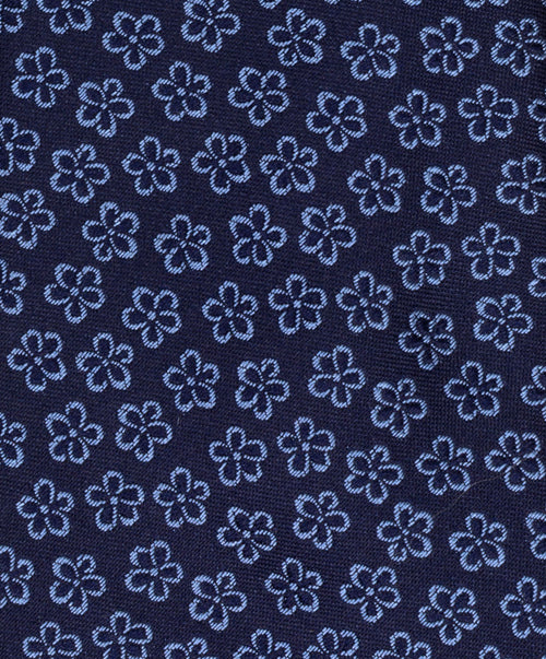 8.0cm Navy/Blue Small Floral Outline Tie