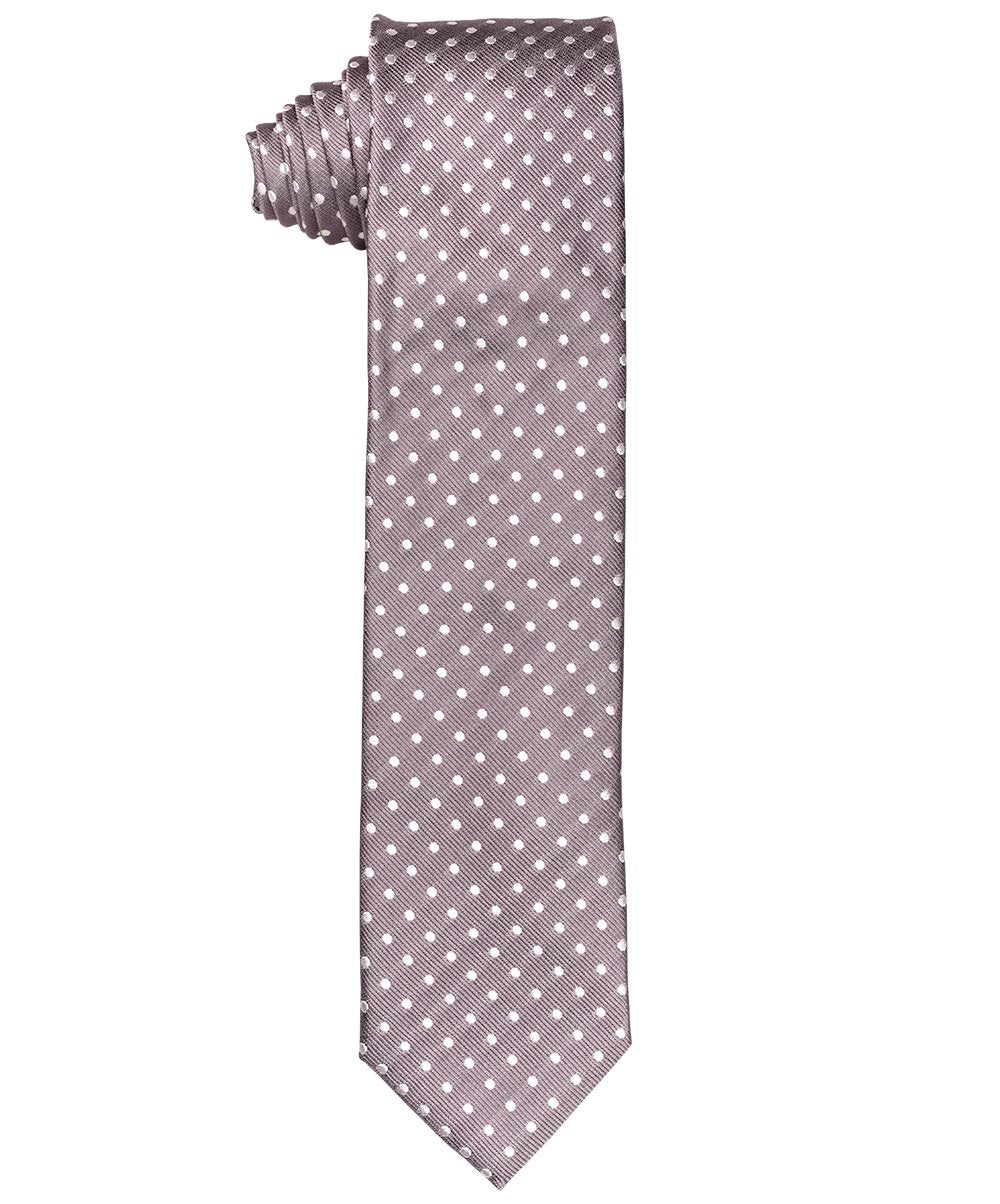 7.5cm Light Grey/White Polka Dot Tie
