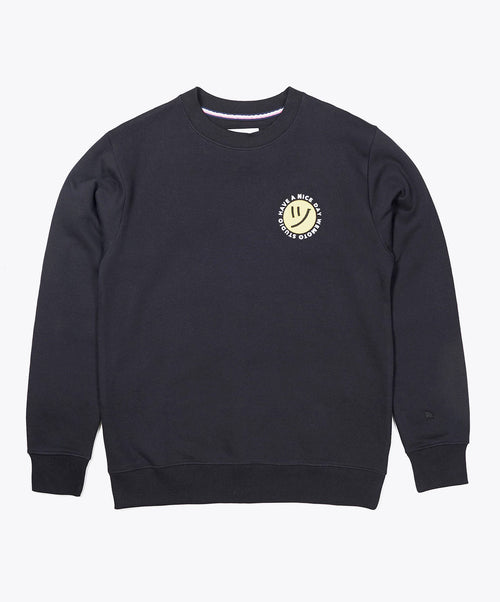 Day Crew Black Crewneck Sweater