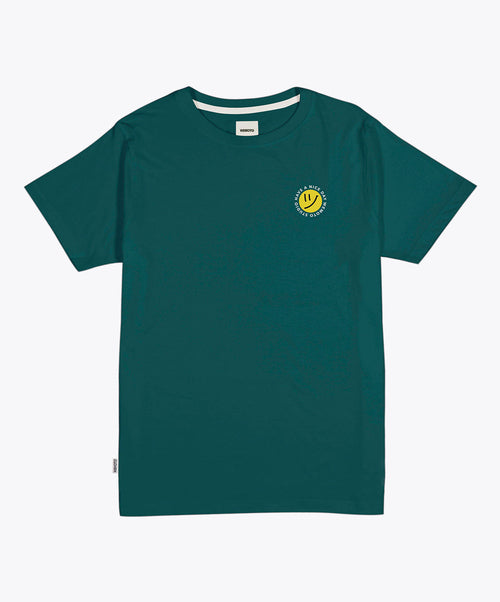 Day Tee Dark Green Smily Face Logo Tee Shirt