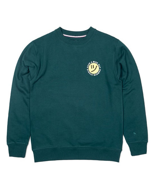 Day Crew Dark Green Crewneck Sweater