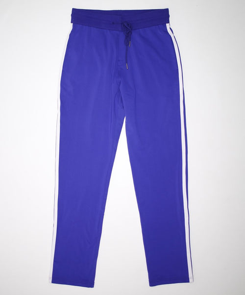 Cobalt w White Stripes on Side Sweatpants