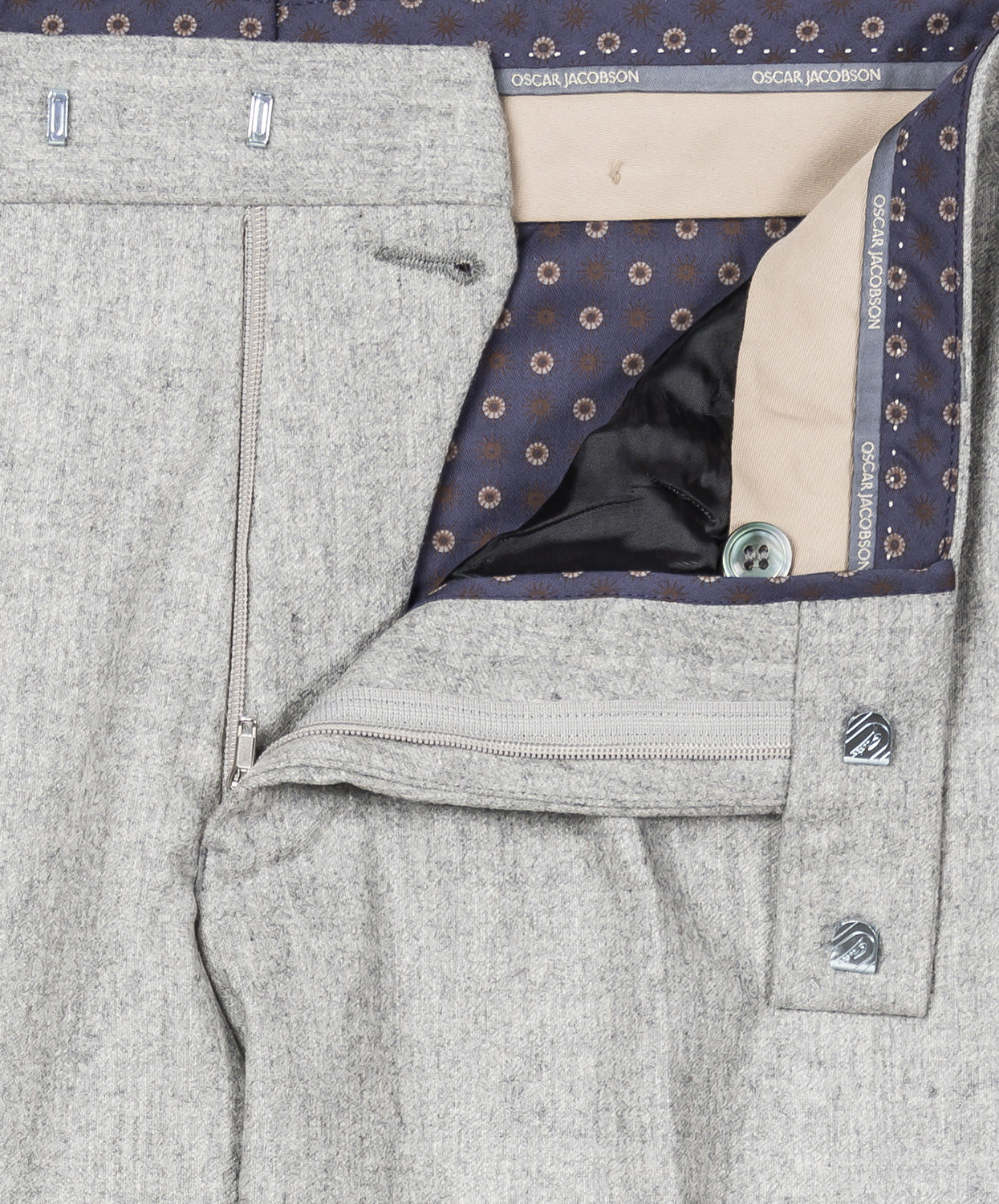 Diego Silver Grey Milled Pant
