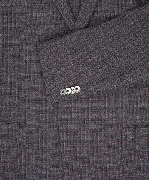 Dynamic Mid Grey Melange Effect Subtle Check Suit