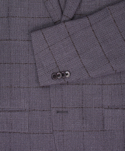 Dynamic Slate/Charcoal Broken Window Pane on Tonal Pepita Check Suit
