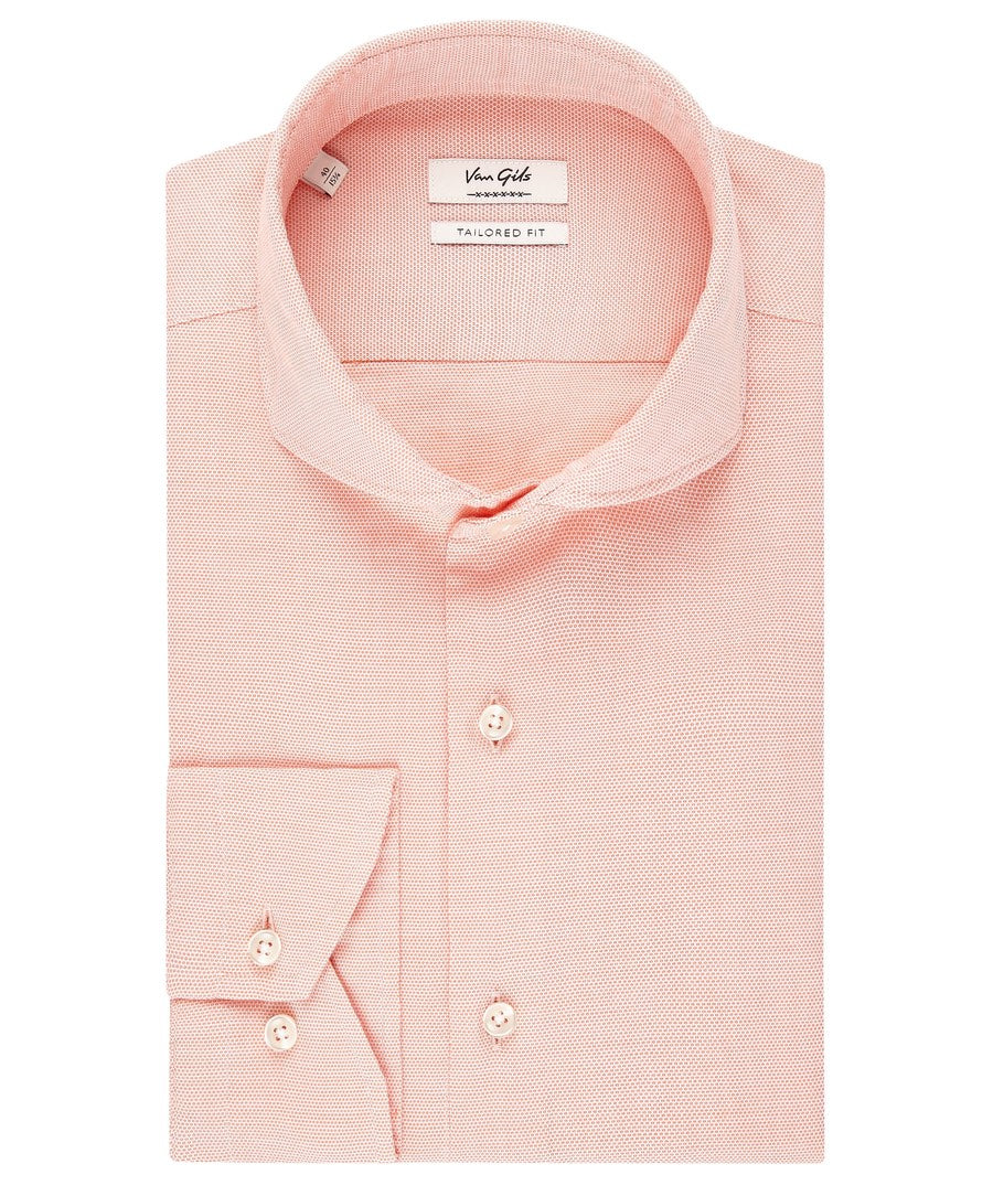 Eden Orange Textured Dress Shirt