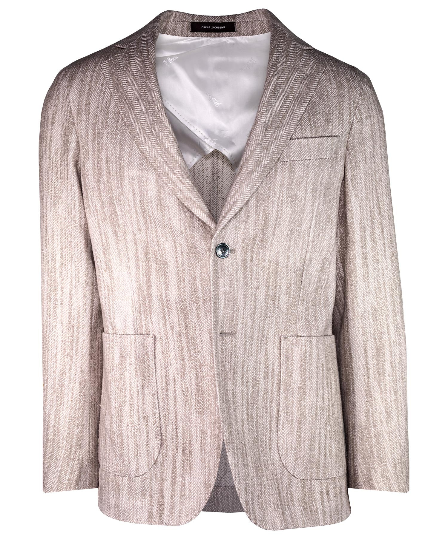 Edgar Earthy Stone Large Herringbone Jacket