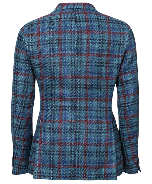 Einar Teal/Wine/Black Blended Check Sport Jacket
