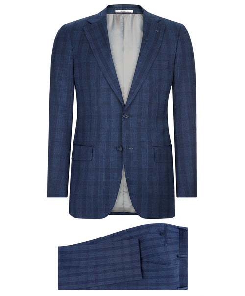 Ellis-Buck Navy Plaid Suit