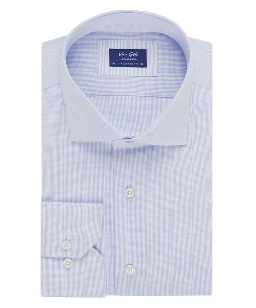 Ellington White/Navy Fine Small Tattersal Shirt
