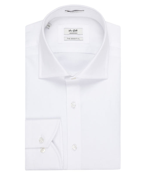 Ellington White Textured Dress Shirt