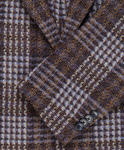 Elray H.L. Café/Blue/Tan Blended Woven Check Suit